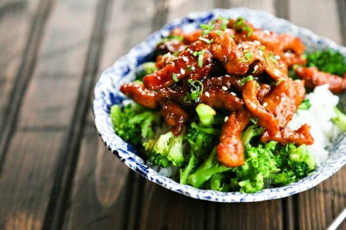 Garlic Ginger Glazed Sticky Pork